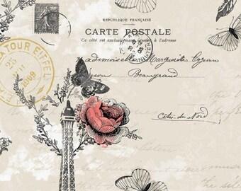 C'est La Vie neutral cotton fabric by Paintbrush Studio design 120-13031