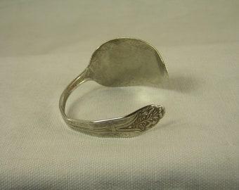 BEAUTIFUL Hammered  - Claudia Silver Plate Silverware Spoon Bracelet