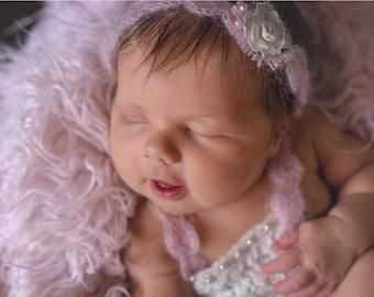 Baby tieback photoprop. Headband for newborn . Photography prop.