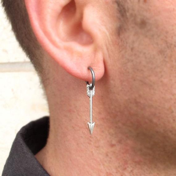 Mens Earring Arrow Earring for men Unisex Jewelry Mens
