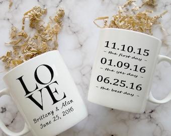 Wedding Coffee Mug, Engagement Mug, Anniversary Mug, Bride to Be Mug, Bridal Shower Gift
