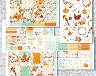Chic Fall Sticker Kit Planner Stickers | Stickers for Erin Condren Life Planner | Glam Stickers | Fall Planner Stickers | Autumn Sticker Kit