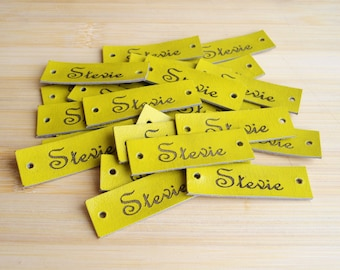 Custom Clothing Labels, Leather Labels, Knitting Labels, Clothing Labels, Hats Leather Labels, Personalized Leather Labels