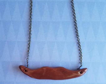 Brown Mustache Necklace