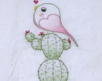 Cactus brodé