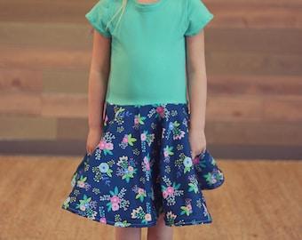 Girl's Twirl Dress, Spring Twirl Dress, Summer Twirl Dress, Floral Twirl Dress