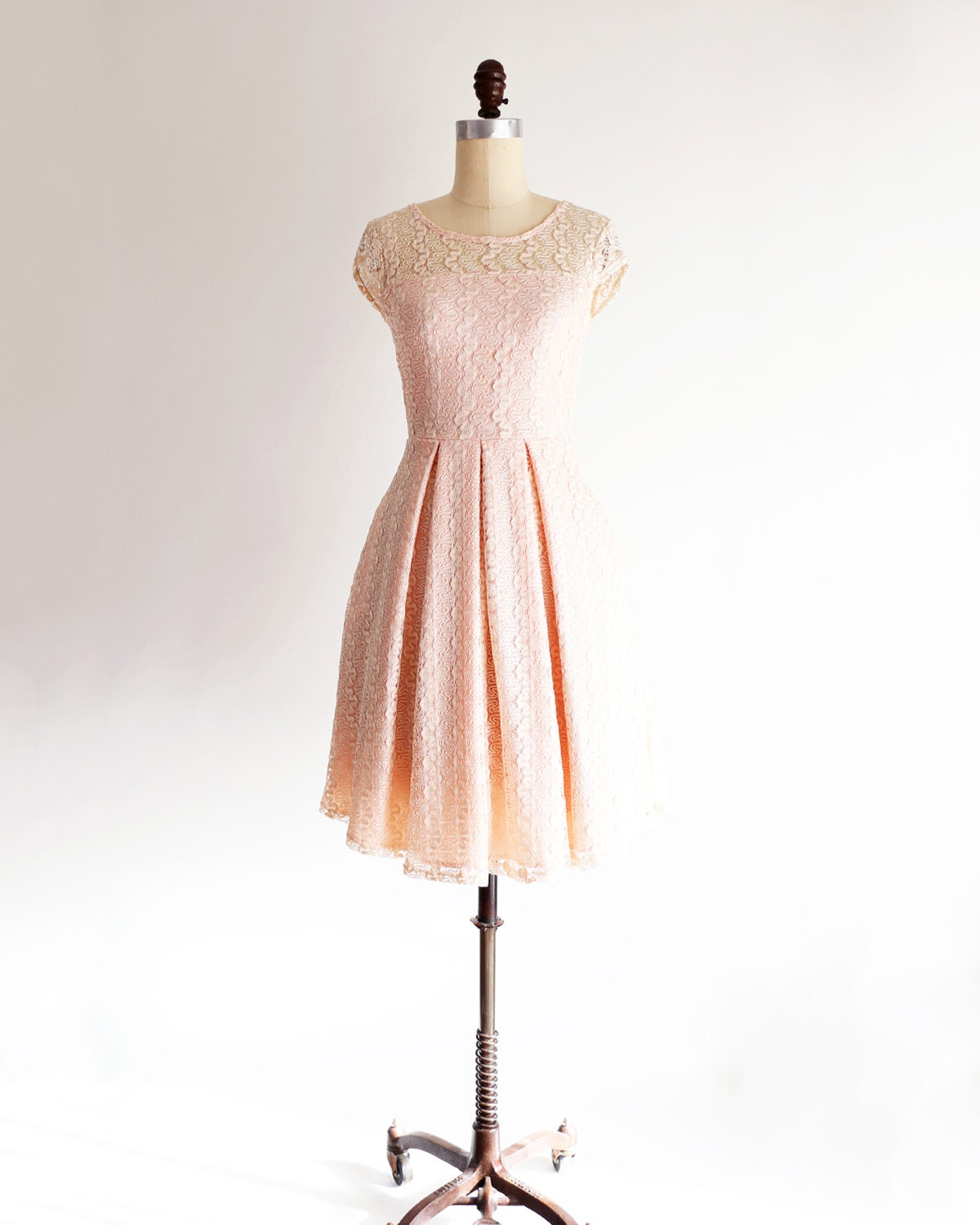 Pink Lace Cocktail Dress