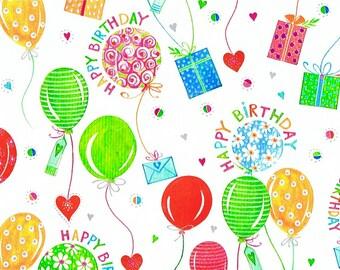 ODETTE gift wrap - Pattern: birthday balloon