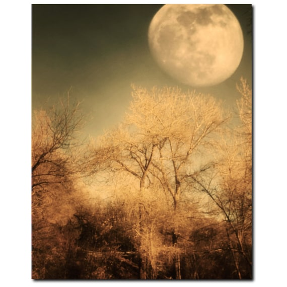 Wall Art Canvas Large Canvas Moon Canvas Gothic Canvas