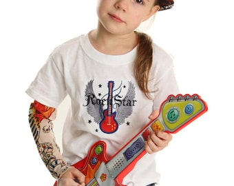 Tattoo Sleeve Rock Star Applique Shirt for Boys or Girls