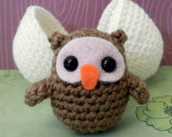 Crochet Pattern: Amigurumi Egg Babies, Owl Chick and Egg