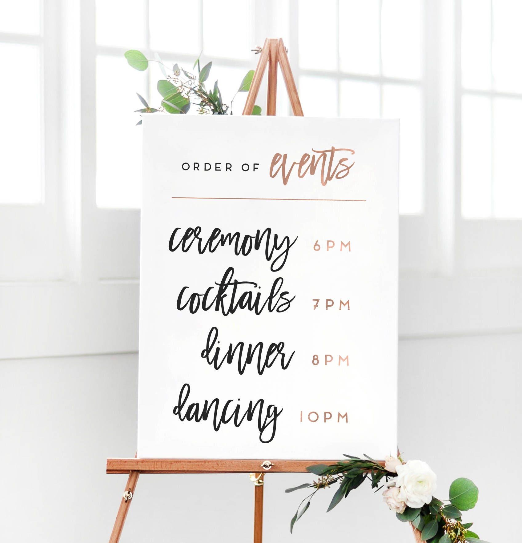 Order Of A Wedding Reception Wedding Decor Ideas