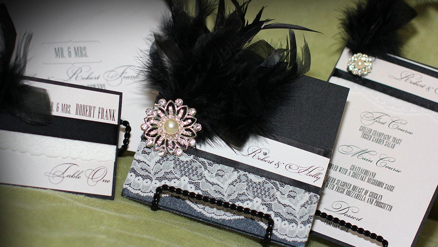 Luxury Wedding Invitation Great Gatsby Roaring 20s