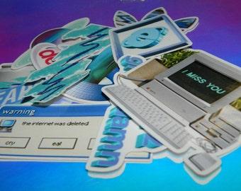 Vaporwave Aesthetic Sticker Pack (10)