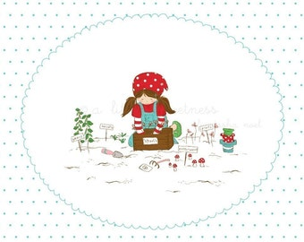 Gardening Day Embroidery PATTERN