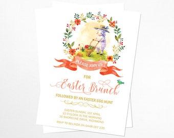 Vintage Easter Brunch Invitation - Printable