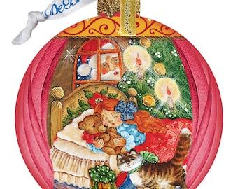 Night Before Christmas Ball Ornament - Glass Ornament - Holiday Ornament - Christmas Ornament - Classic Christmas Series -73613
