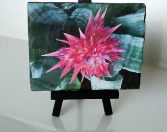 Slate Decoupage Flower image