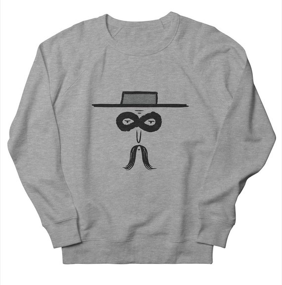 El Bandito - Men's / Women's  - Unisex Sweatshirt -  Oatmeal / Green / Pink / Grey by Oliver Lake - iOTA iLLUSTRATiON
