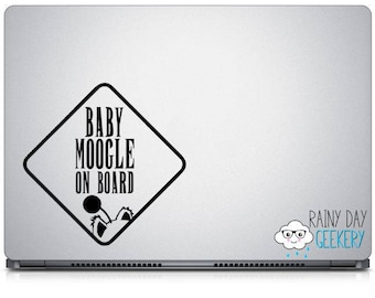 Baby Moogle on Board Vinyl Decal -  One Color Moogle on Board Decal - vinyl window decal - Moogles on board - nerdy baby on board sign