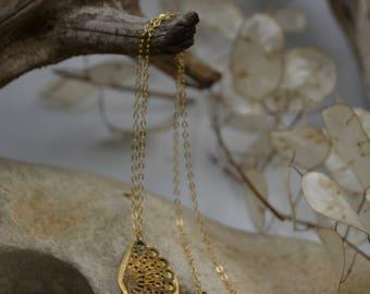 Vintage Inspired Gold Necklace