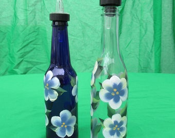 single olive oil bottle