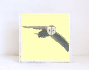 owl nursery art, animal print, nursery decor, boho nursery wall decor, yellow nursery art, woodland animals nursery animals redtilestudio