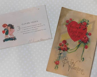 Vintage Valentine's Day Post Cards - Set of Two