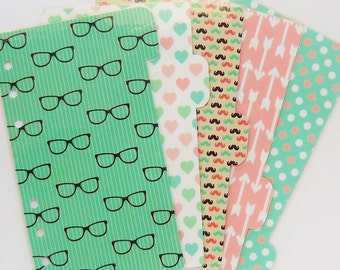5 Personal / A5 / Pocket Planner Dividers