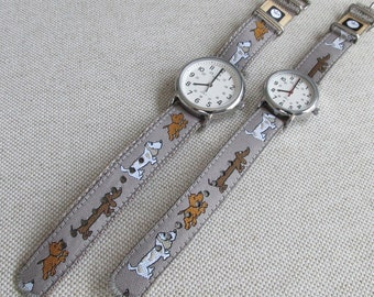 NEW! Puppies! Watch Strap, 16mm or 20mm Watch Band for Timex Weekender Watch, Band Only, Replacement Strap in 2 Widths