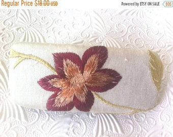 CLEARANCE - Ivory barrette,  floral barrette, fabric barrette, hair accessory, fashion accessory