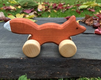 Small Wooden Toy Fox, kids gift, baby gift, eco-friendly toy, personalized toy, Waldorf toy, Christmas gift