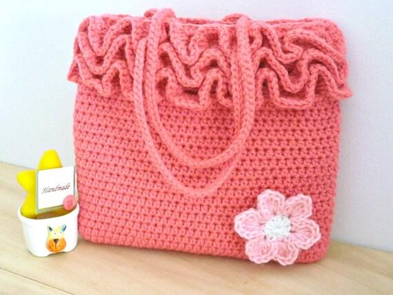 Crochet Bag Pattern Crochet Frilly Bag Pattern Girls Crochet Bag