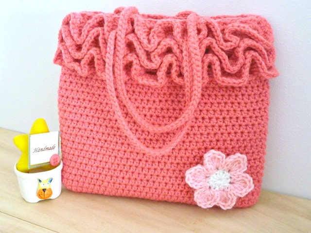 Crochet Bag Pattern Crochet Frilly Bag Pattern Girls Crochet