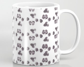 Paw Prints Coffee Mug  - Puppy Prints - Coffee Cup - Coffee Mug - 11oz - 15oz - Ceramic - Made to Order