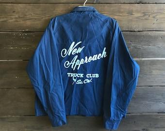 Vintage 70s Chain Stitch New Approach Truck Club Jacket