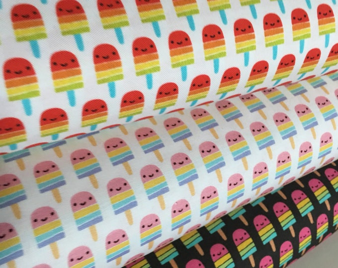 Popsicle fabric, Novely fabric, Kids or childrens, Suzie's Minis fabric bundle of 3, Girls Decor, Gift for daughter, Choose the Cut