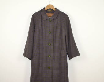 Vintage Wool Trench Coat  |   Vintage Aquascutum Ladies' Wool Coat  |  Vintage Wool Winter Overcoat  |  Women's Medium Vintage 60s Coat