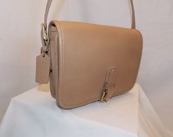 COACH 'Medium Saddle Pouch' Bag #J5B-9590 ~ PUTTY ~ Brass ~ Vintage ~ Never Used Condition