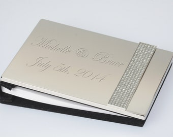 Glitter Galore Guest Book with Free Engraving