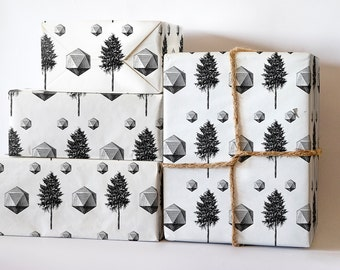 Geometric Pine Tree Wrapping Paper; wrapping paper tree; Wrapping Paper Christmas; Christmas in rolls; wrapping Paper sheets; Christmas Roll