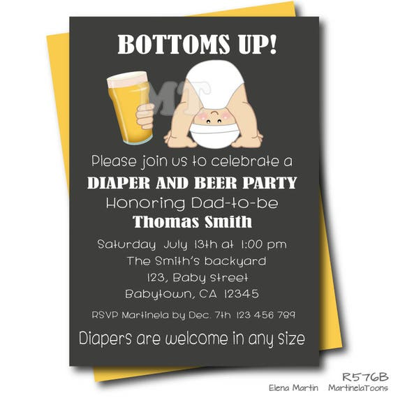 Beer and diaper baby shower invitation chalkboard dad baby like this item filmwisefo Images