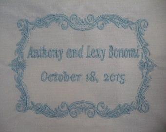 Rectangular Framed Wedding Dress Label