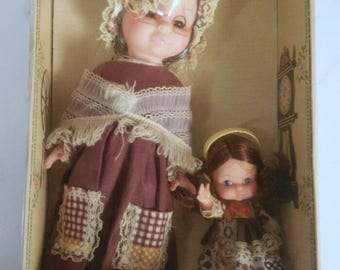 Vintage 1978 Granny and Me Doll Set by Uneeda Doll Company