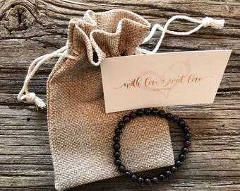 Garnet Healing Bracelet - Garnet Bracetlet - January Birthstone