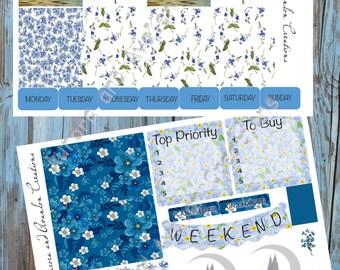 Vergissmeinnicht Fey Kit für Erin Condren oder Happy Planner
