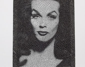 Knit Portrait of Vampira