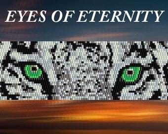 Pattern for 2x peyote beaded bracelet - Artisan jewelry schema