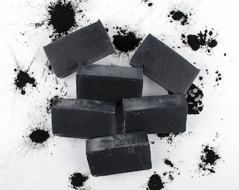 Dead Sea Mud Soap -  Set of 3 Soaps, Homemade Soap, Cold Process Soap, Bamboo Charcoal, Activated Charcoal, Essential Oil, Acne, All Natural