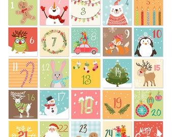 printable advent calendar 25 card december calendar. Black Bedroom Furniture Sets. Home Design Ideas